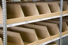 Escaninhos de armazenamento industriais Imagem de Stock