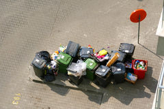 Escaninhos de lixo Foto de Stock Royalty Free
