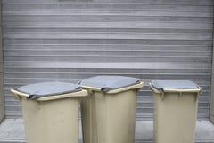 Escaninhos de lixo Fotografia de Stock