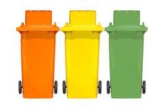 Escaninhos de lixo coloridos Foto de Stock