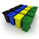 Escaninhos de lixo plásticos ilustração do vetor
