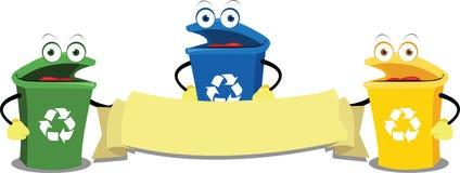 Escaninhos de recicl engraçados ilustração royalty free