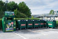 Escaninhos de reciclagem Imagens de Stock Royalty Free