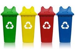 Escaninhos de reciclagem Fotografia de Stock Royalty Free