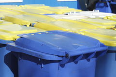 Escaninhos de reciclagem, Brema, Alemanha Fotografia de Stock Royalty Free
