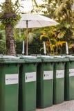 Escaninhos de reciclagem da avidez Foto de Stock