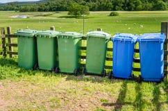 Escaninhos de reciclagem exteriores Imagem de Stock Royalty Free