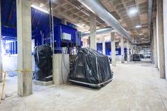 Escaninhos hidráulicos dos resíduos sólidos da construção Fotografia de Stock Royalty Free