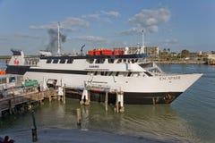 Escapade Casino Cruise. Docking at John's Pass and Marina in Madeira Beach Stock Photography
