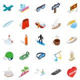 Escapade icons set, isometric style. Escapade icons set. Isometric set of 25 escapade vector icons for web isolated on white background Royalty Free Stock Photos