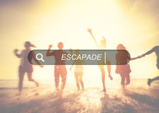 Escapade Journey Dream Freedom Travel Adventure Concept Stock Image