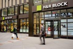 Escaparate de H&r Block Imágenes de archivo libres de regalías