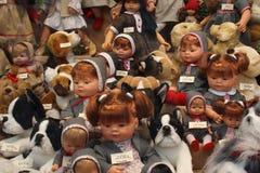 Escaparate de las muñecas Imagen de archivo libre de regalías