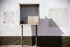 Escaparate de madera viejo Fotos de archivo
