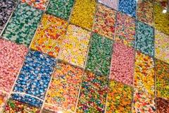Escaparate del caramelo Foto de archivo