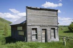 Escaparate occidental abandonado Foto de archivo libre de regalías