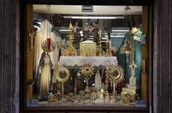 Escaparate sagrado del ` s de la tienda Fotografía de archivo libre de regalías
