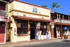 Escaparates viejos de Lahaina, Maui Imagen de archivo libre de regalías