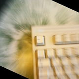 Escape. Zoomed Escape Key of a keyboard royalty free stock photos