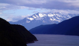 Escape. View of the mountains at Skagway,Alaska Royalty Free Stock Image