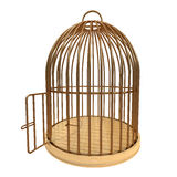 Escape from. Golden cage with open door, high resolution 3d render Stock Photography