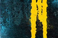 Escape amarillo de la pintura de aerosol Imagenes de archivo