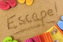 Escape beach vacation holiday break Stock Image