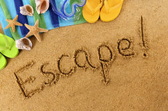Escape beach vacation freedom Royalty Free Stock Photography