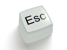 Escape button on a white background Stock Photo