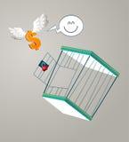 Escape from a cage Stock Photos