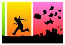 Escape da cidade ilustração royalty free