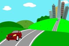 Escape da cidade Ilustração Stock