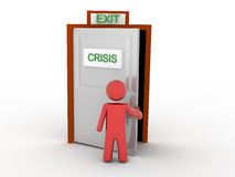 Escape da crise Imagem de Stock Royalty Free