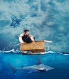 Escape da crise Imagens de Stock Royalty Free