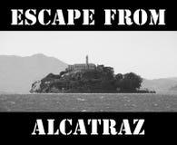 Escape de Alcatraz ilustração stock