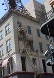 Escape de fogo da construção Fotos de Stock Royalty Free