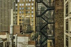 Escape de fogo de Manhattan foto de stock royalty free