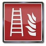 Escape de fogo nesta construção ilustração royalty free