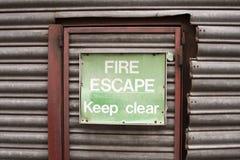 Escape de fuego Fotos de archivo libres de regalías
