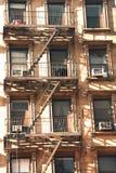 Escape de fuego del apartamento fotografía de archivo