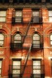 Escape de fuego New York City Imágenes de archivo libres de regalías