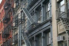 Escape de fuego Nueva York imagenes de archivo