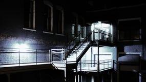 Escape de fuego trasero del edificio Foto de archivo libre de regalías