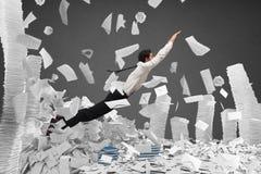 Escape de la burocracia Imágenes de archivo libres de regalías