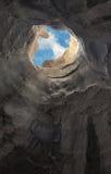 Escape de la cueva Foto de archivo libre de regalías