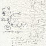 Escape de la matemáticas Foto de archivo libre de regalías