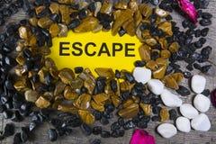 Escape de la palabra Foto de archivo