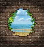 Escape de las vacaciones ilustración del vector
