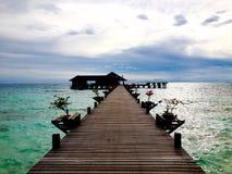 Escape de lujo de la isla a la isla Dive Resort de Lankayan en el mar Malasia de Sulu Foto de archivo libre de regalías