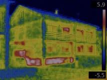 Escape del infrarrojo de la fachada Foto de archivo